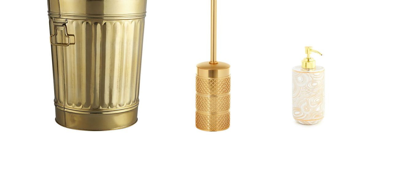 21 Gold Bathroom Accessories That Give Your Space Luster