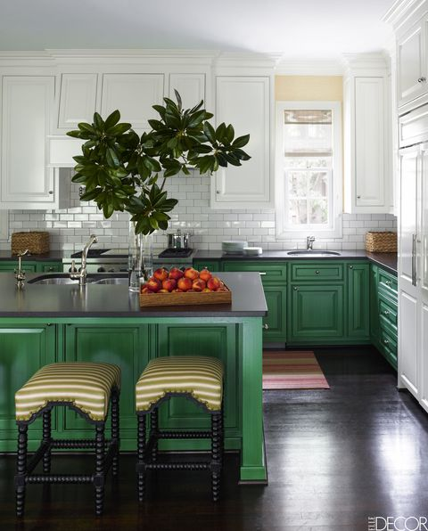 20 Green Kitchen Design Ideas - Paint Colors for Green Kitchens