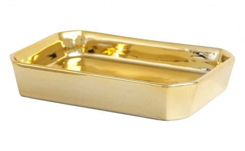 Gold bathroom accessories