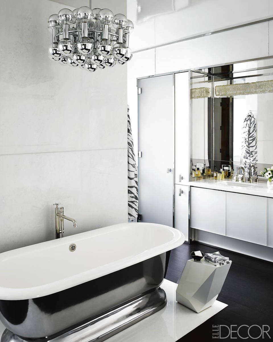 Black and white bathroom decor - Black And White Bathroom Decor 9