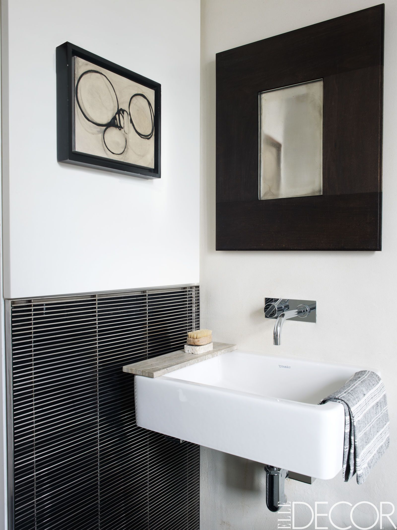Black and white bathroom decor - Black And White Bathroom Decor 3