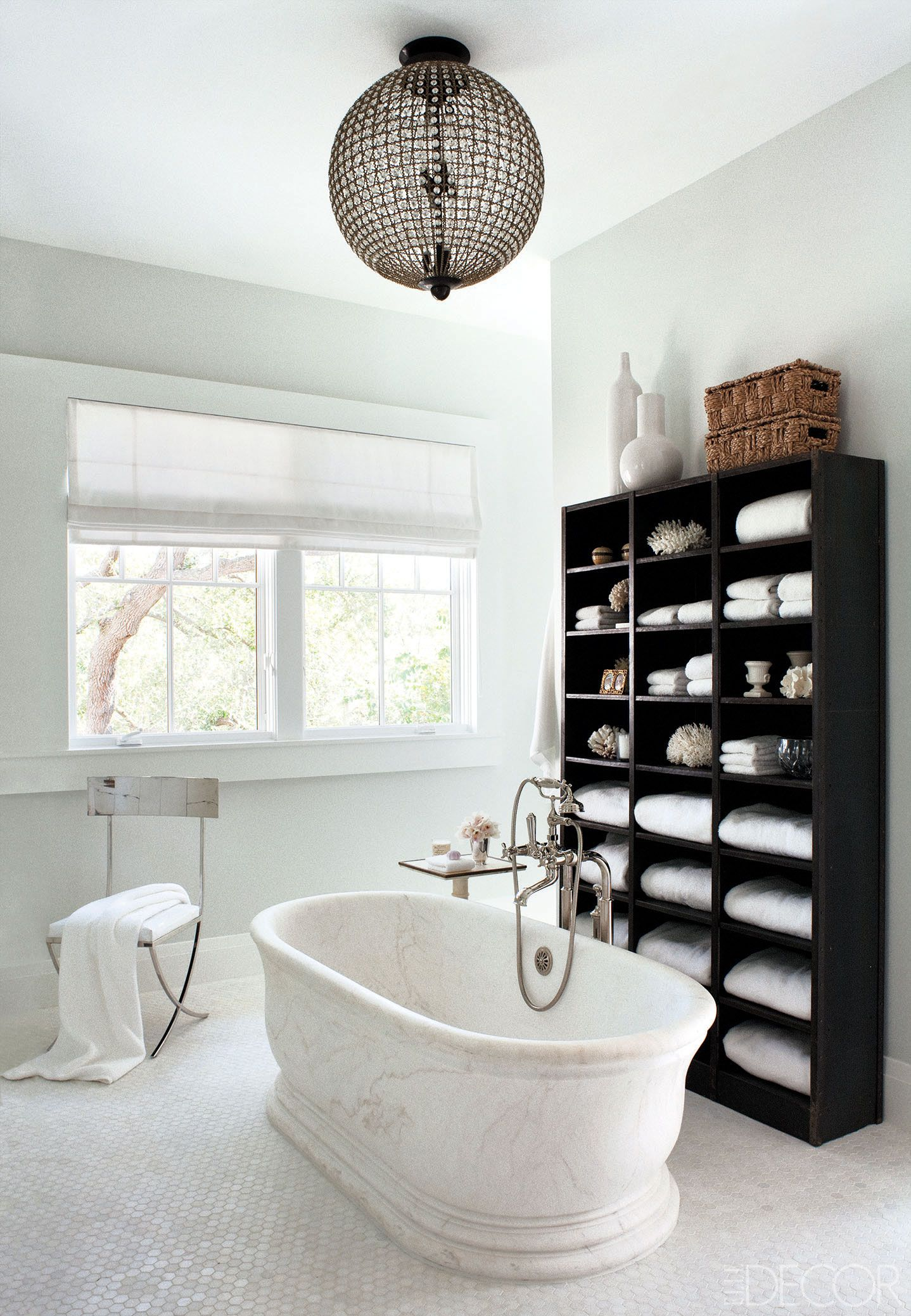 Ideas For Black And White Bathroom Part - 31: Elle Decor