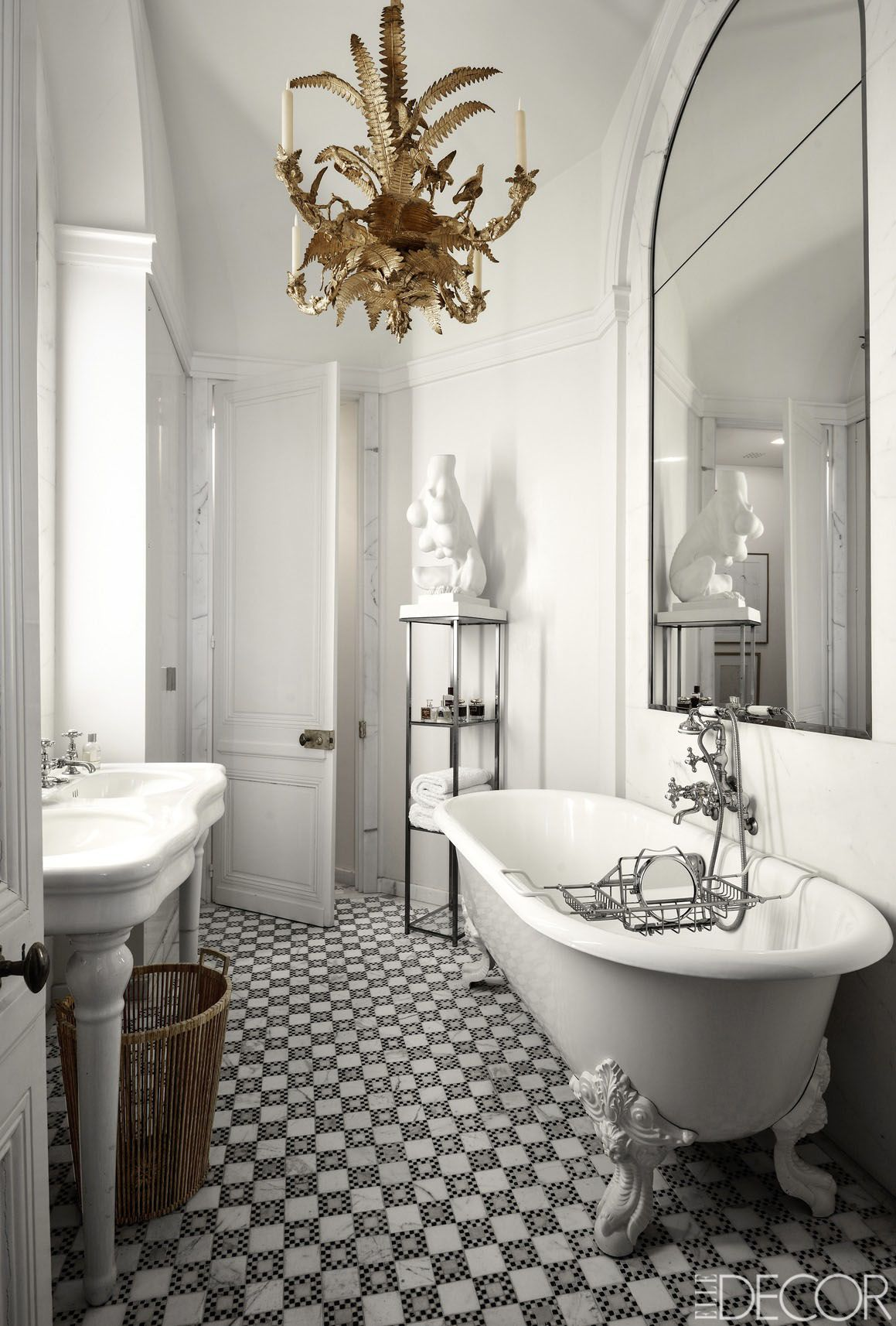 30 black and white bathroom decor design ideas dailygadgetfo Gallery