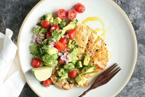 Seared Chicken with Avocado Salsa Recipe