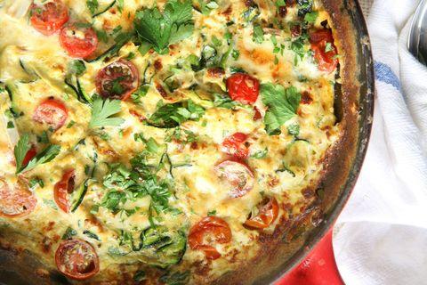 Zucchini and Brie Frittata Recipe