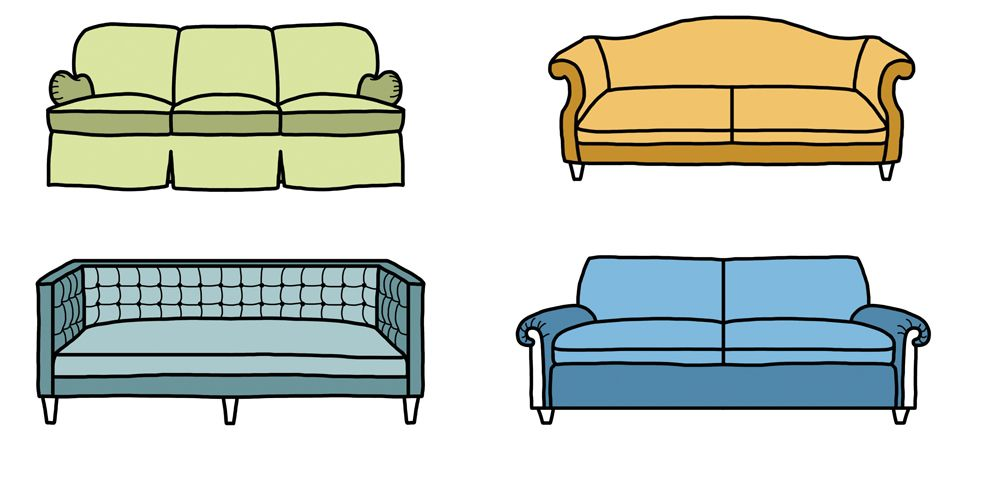 Sofa Styles Different Types Of Couches - Types of sofa
