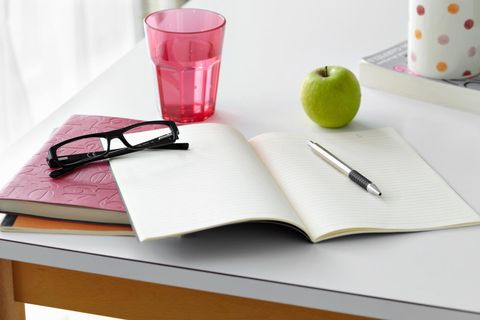 Granny smith, Fruit, Serveware, Apple, Produce, Stationery, Office supplies, Book, Notebook, Ingredient,