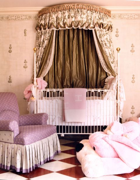 6a6140da2 7 Cute Baby Girl Rooms - Nursery Decorating Ideas for Baby Girls