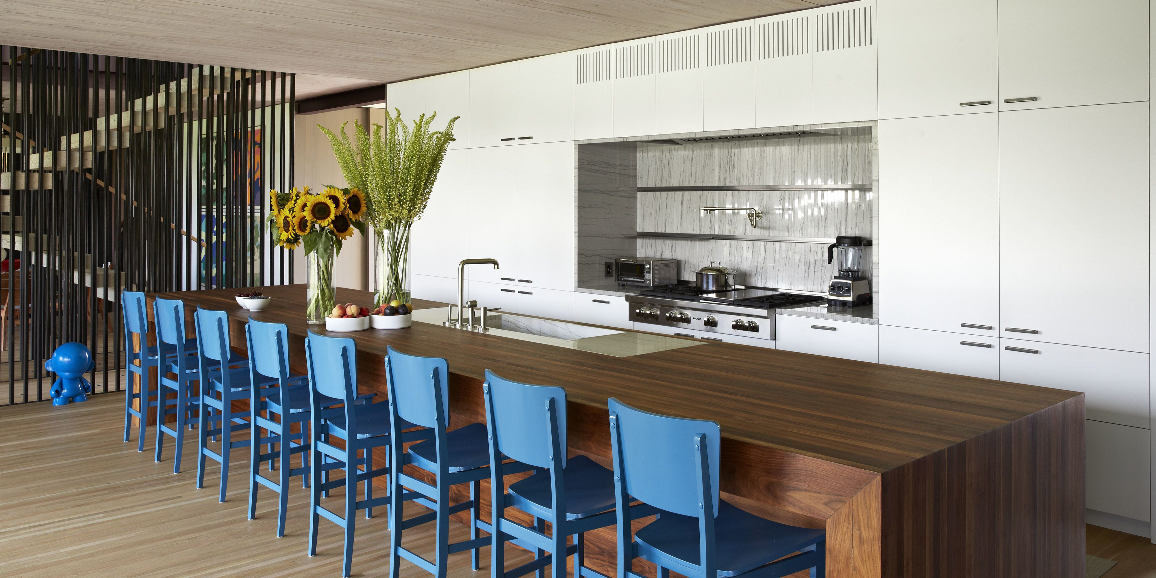 Captivating Blue Kitchens