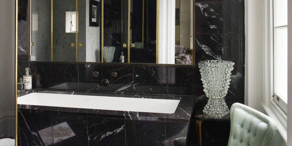 Pristine Spa Like Bathrooms Are Giving Way To Striking, Black Designs U2014 And  You Can Pull It Off With These Expert Tips And Ideas.