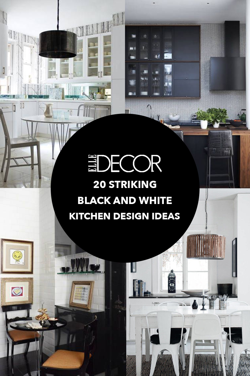Black And White Kitchen Ideas Part - 35: Elle Decor