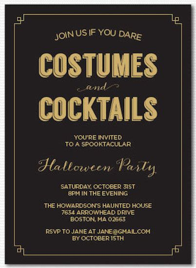 20 Best Halloween Party Invitations - Cute Invites for an Adult ...