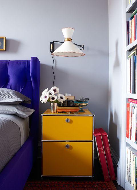 Room, Interior design, Bookcase, Shelf, Lampshade, Floor, Wall, Shelving, Lamp, Furniture,