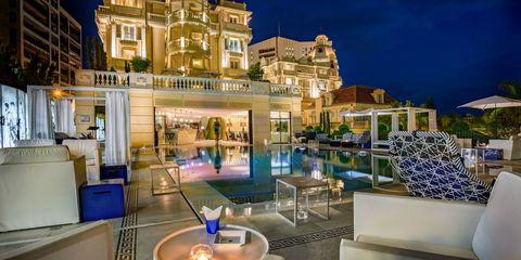 Lighting, Night, Real estate, Majorelle blue, Midnight, Resort, Mixed-use, Design, Landscape lighting, Hotel,