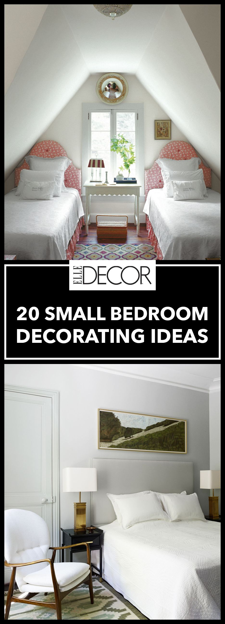 20 small bedroom design ideas decorating tips for small bedrooms - Interior Decorating Ideas Bedroom