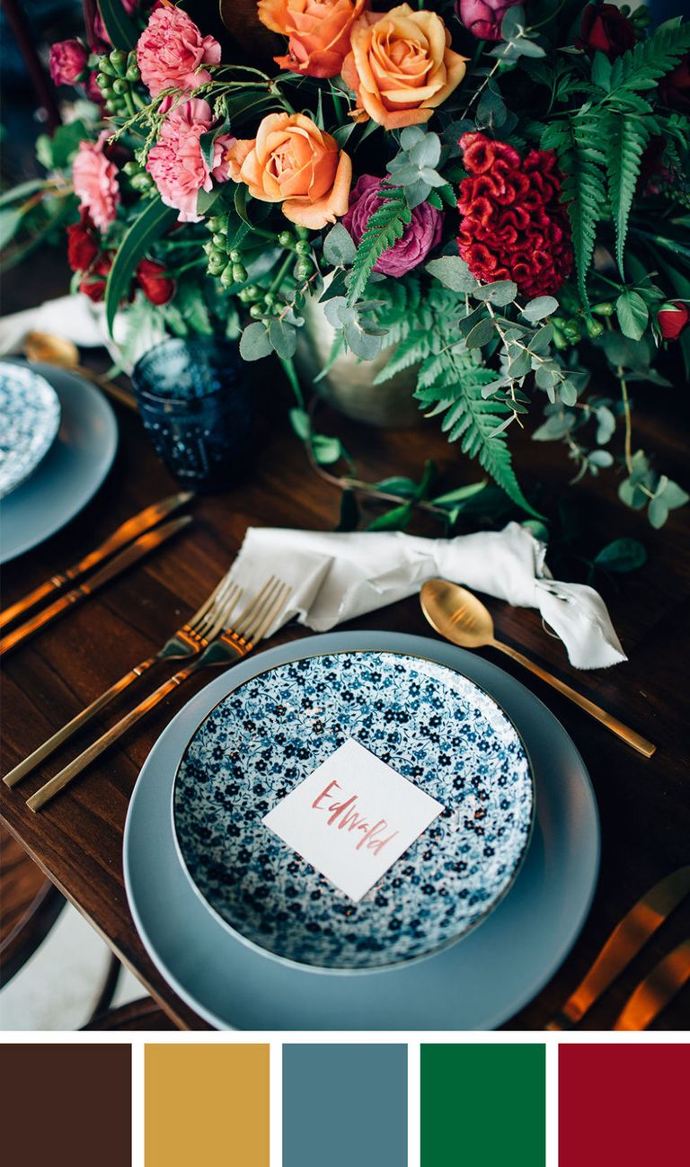 30 Best Fall Wedding Colors - Pretty Wedding Colors For Fall