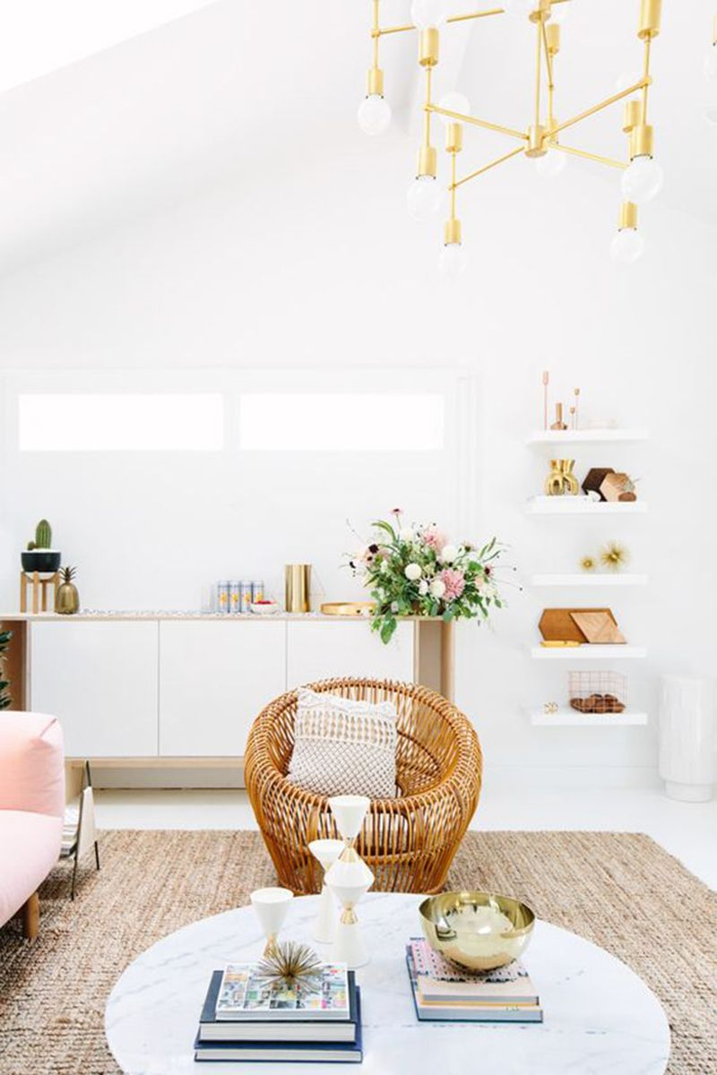 Gold accents feel fresh and add an elevated dose of shimmer to any room.   Via Sarah Sherman Samuel