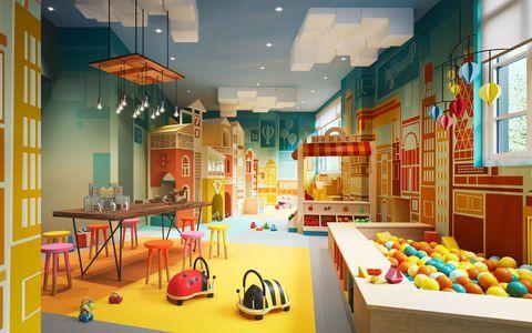 Lighting, Interior design, Room, Ceiling, Light fixture, Interior design, Ceiling fixture, Hall, Decoration, Toy,