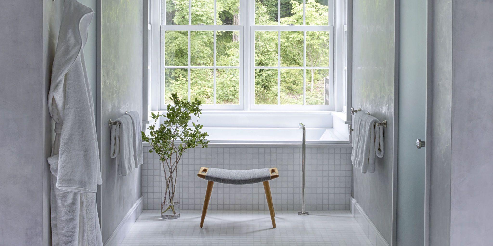 white bathrooms & 25 White Bathroom Design Ideas - Decorating Tips for All White Bathrooms