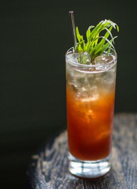 Liquid, Drink, Alcoholic beverage, Fluid, Classic cocktail, Juice, Cocktail, Tableware, Distilled beverage, Drinking straw,