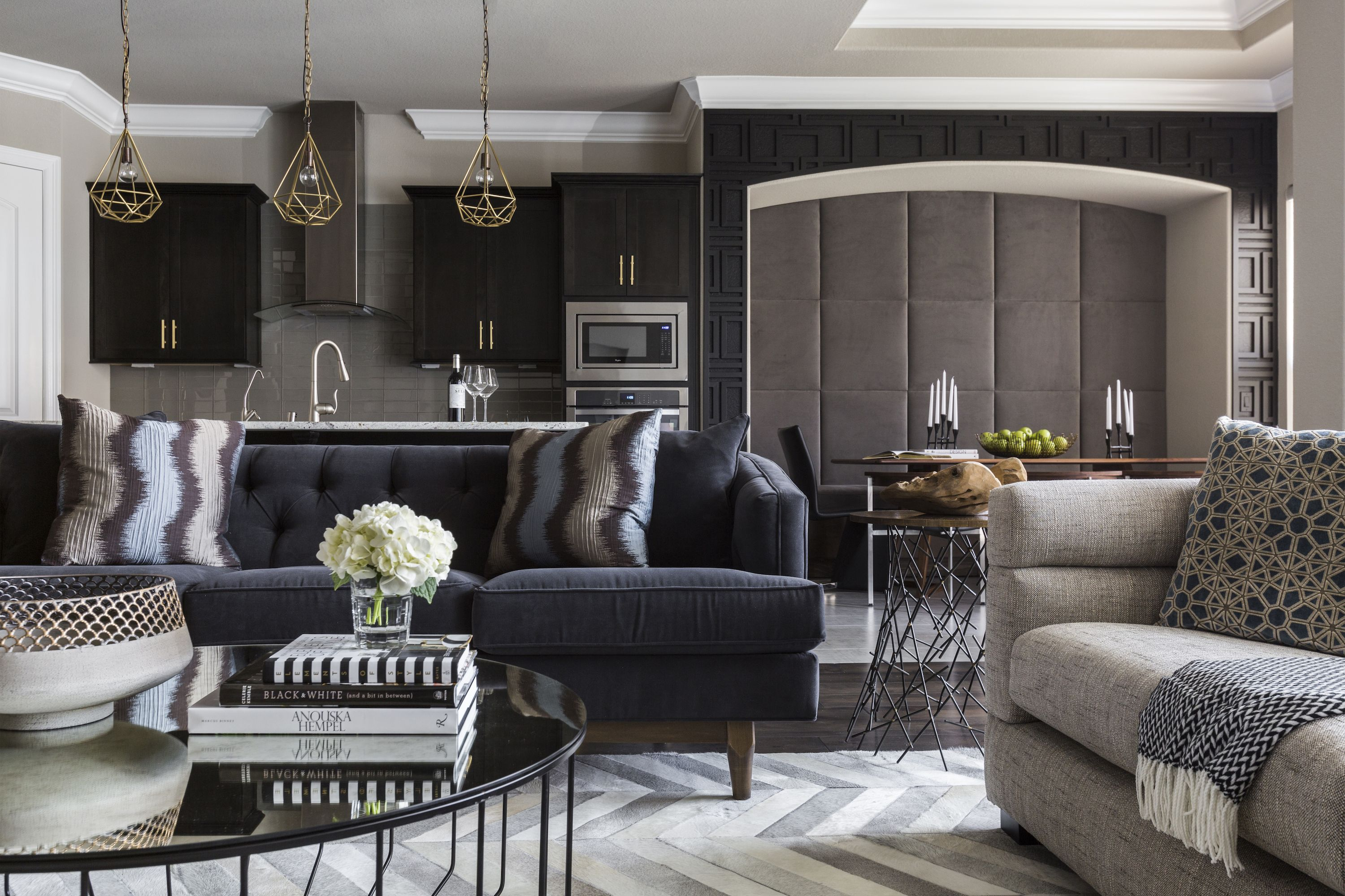 Tour a modern house that pulls off black walls with flair