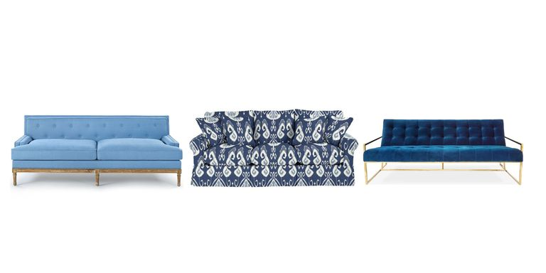 blue sofa in living room. blue sofa 20 Best Blue Sofas  Stylish Couch Ideas
