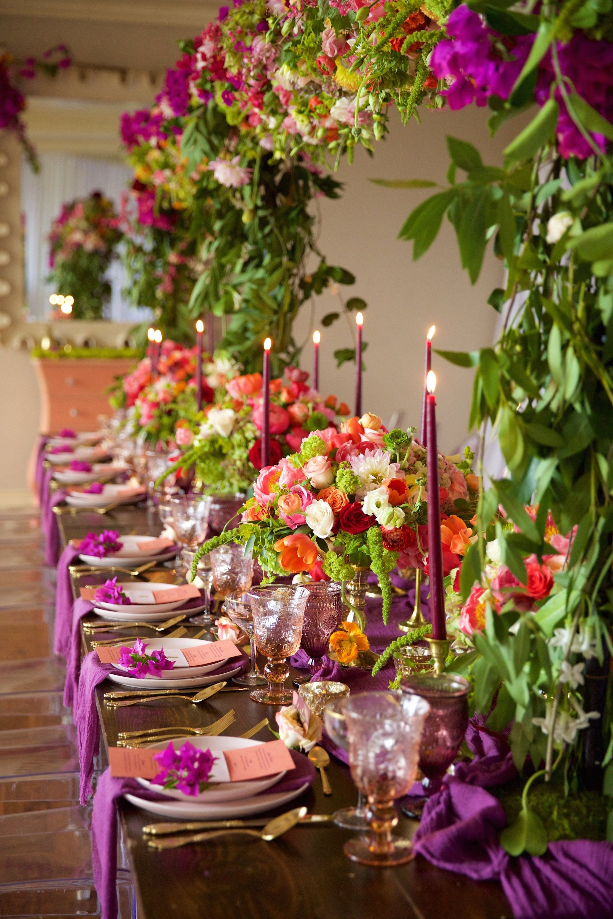 Tablescape Ideas 50 Prettiest Wedding Tables  Wedding Tablescape Ideas