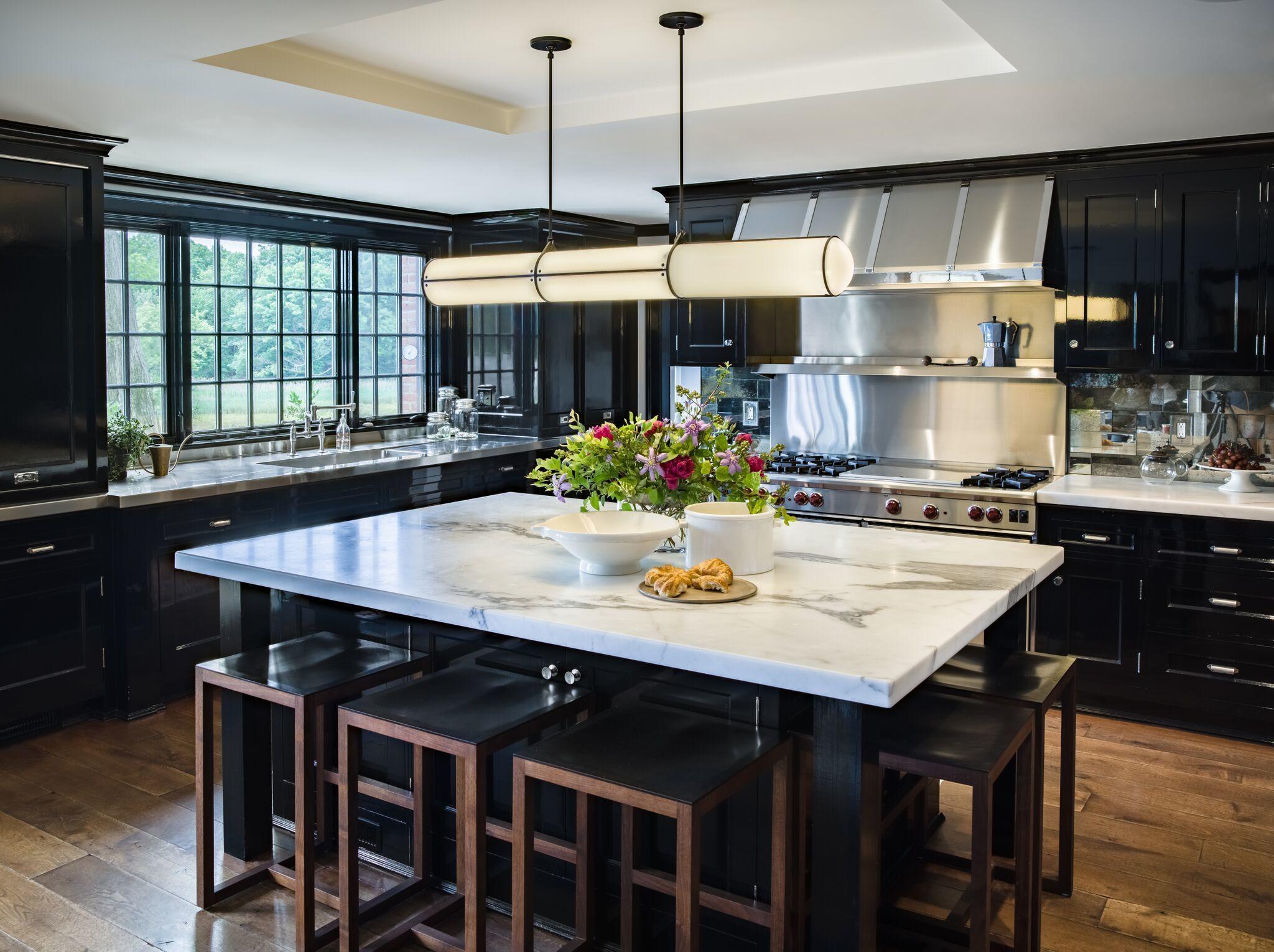 u003cpu003eu003cem data-redactor-tagu003d em  data- & 30 Sophisticated Black Kitchen Cabinets - Kitchen Designs With Black ...
