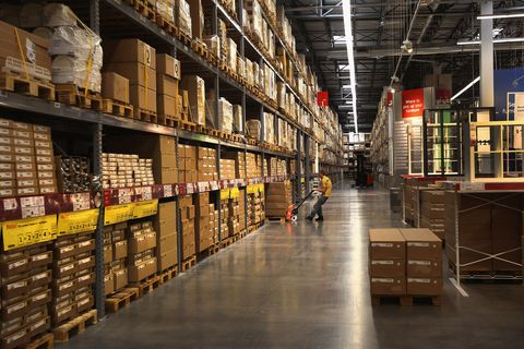 Warehouse, Aisle, Shelf, Shelving, Inventory, Retail, Publication, Collection, Library, Trade,