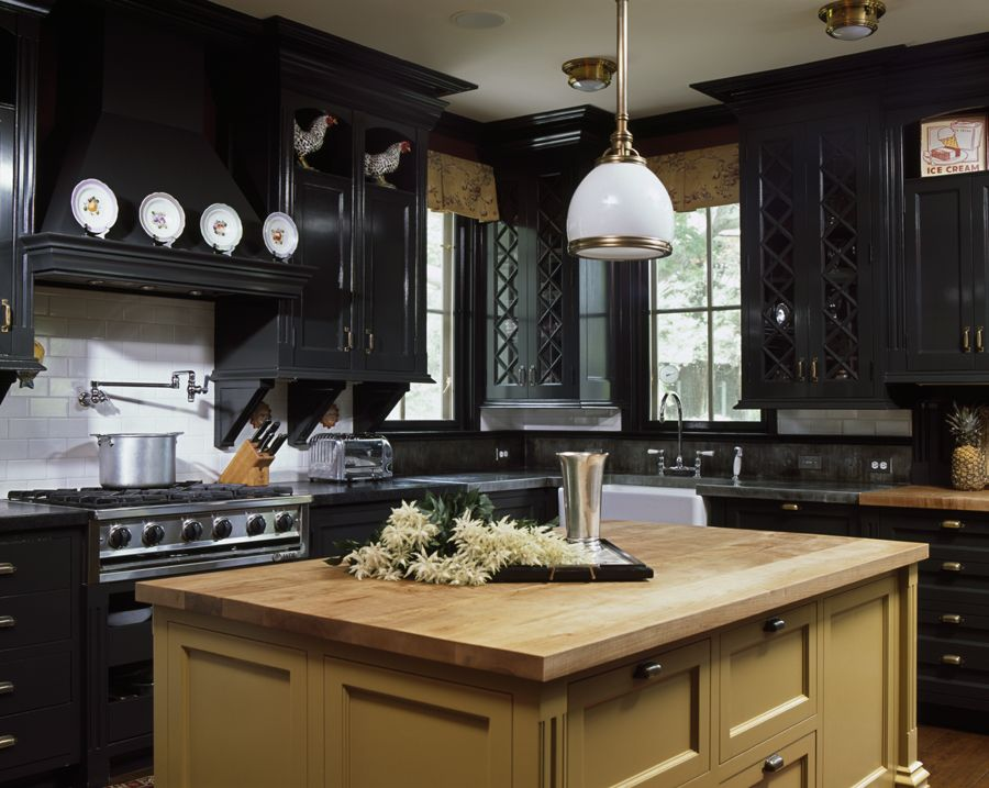 Delightful 30 Best Black Kitchen Cabinets   Kitchen Design Ideas With Black Cupboards Part 10