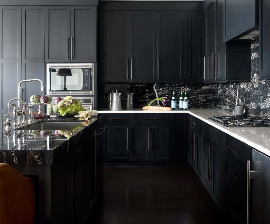Kitchens With Black Cabinets Brilliant 30 Best Black Kitchen Cabinets  Kitchen Design Ideas With Black . Design Inspiration