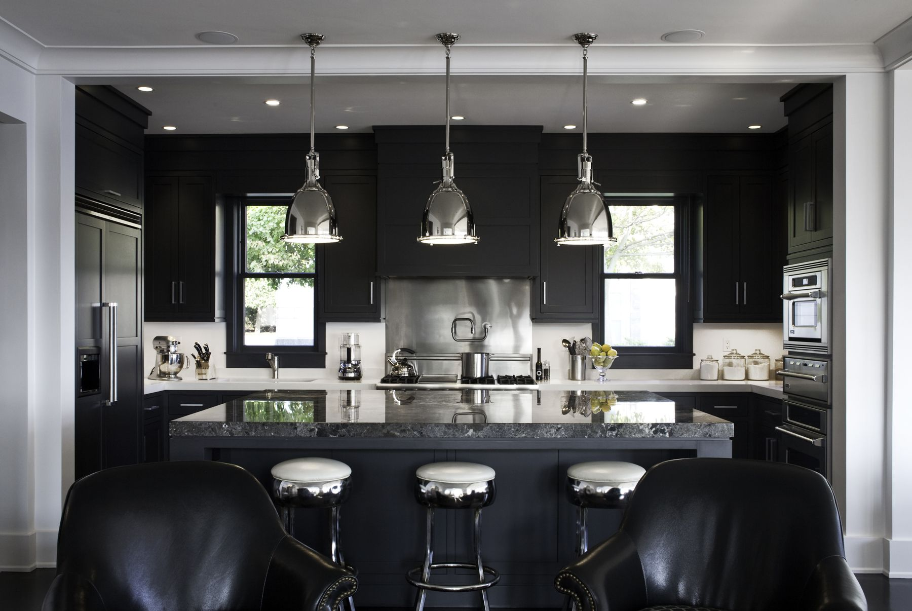 Kitchens With Black Cabinets Glamorous 30 Best Black Kitchen Cabinets  Kitchen Design Ideas With Black . Inspiration Design
