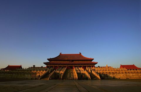 Chinese architecture, Japanese architecture, Roof, Amber, Landmark, Morning, Evening, Temple, Dusk, Historic site,