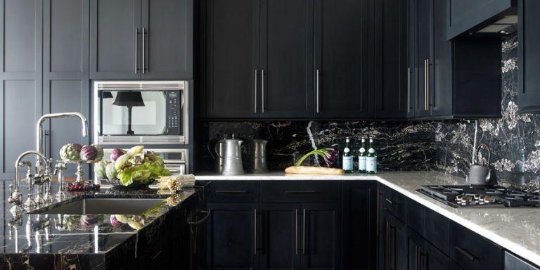 30 best black kitchen cabinets kitchen design ideas with black rh elledecor com dark kitchen cabinets ideas black kitchen cabinets pictures distressed