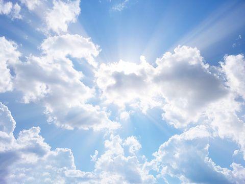Blue, Daytime, Sky, Cloud, Atmosphere, Cumulus, Colorfulness, Sunlight, Azure, Electric blue,