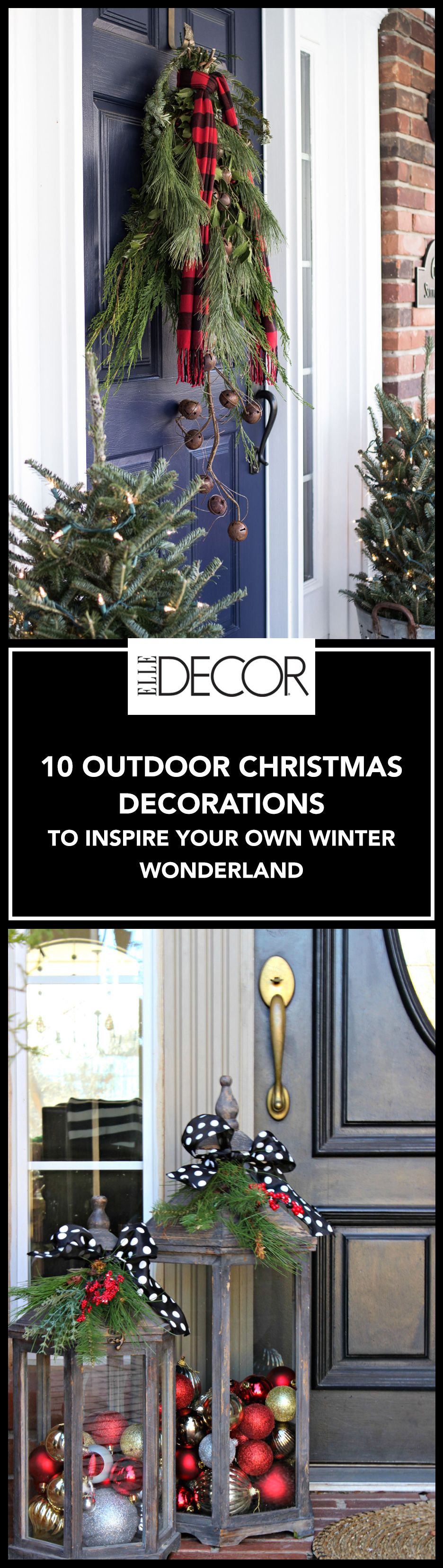 Christmas outdoor window decoration ideas - 13 Outdoor Christmas Decoration Ideas Stylish Outside Christmas Decorating For Your Yard
