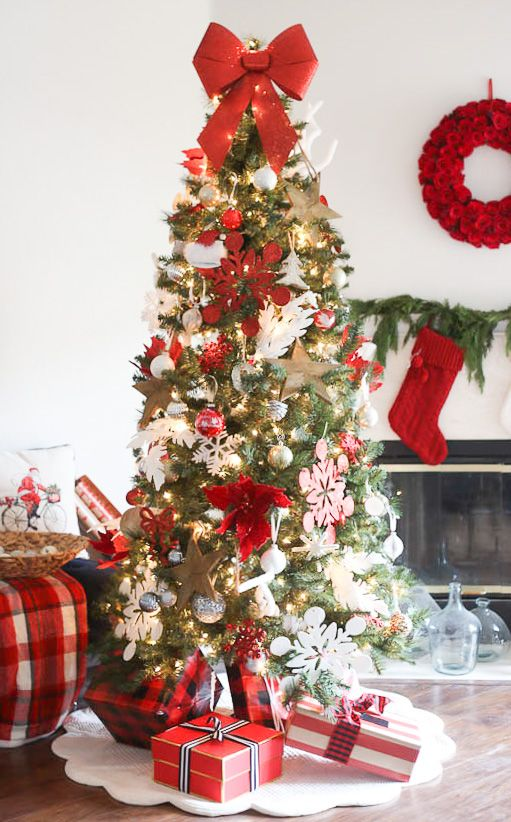 Beautiful Christmas Tree Decoration Ideas - Best red christmas decor ideas