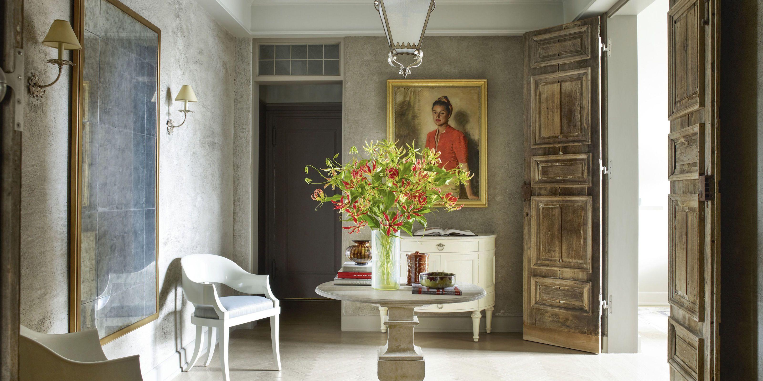 Landscape design for house entrance furniture
