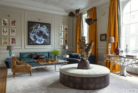 Tour a london townhouse filled with jewel tones w - Townhouse living room decorating ideas ...
