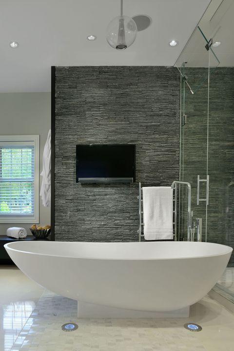 Interior design, Plumbing fixture, Room, Property, Floor, Ceiling fixture, Wall, White, Ceiling, Light fixture,