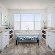 Blue, Room, Floor, Wood, Interior design, Flooring, Drawer, Property, Architecture, Home,