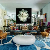colorful so paulo duplex living room