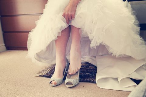Shoe, White, Fashion, Foot, Embellishment, Ankle, Wedding dress, Natural material, Bridal clothing, Haute couture,