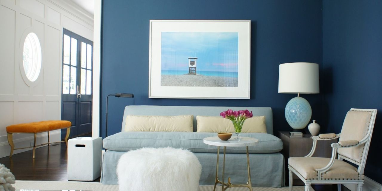 53 stylish blue walls ideas for blue painted accent walls rh elledecor com accent wall colors for large living room accent wall colors for gray living room