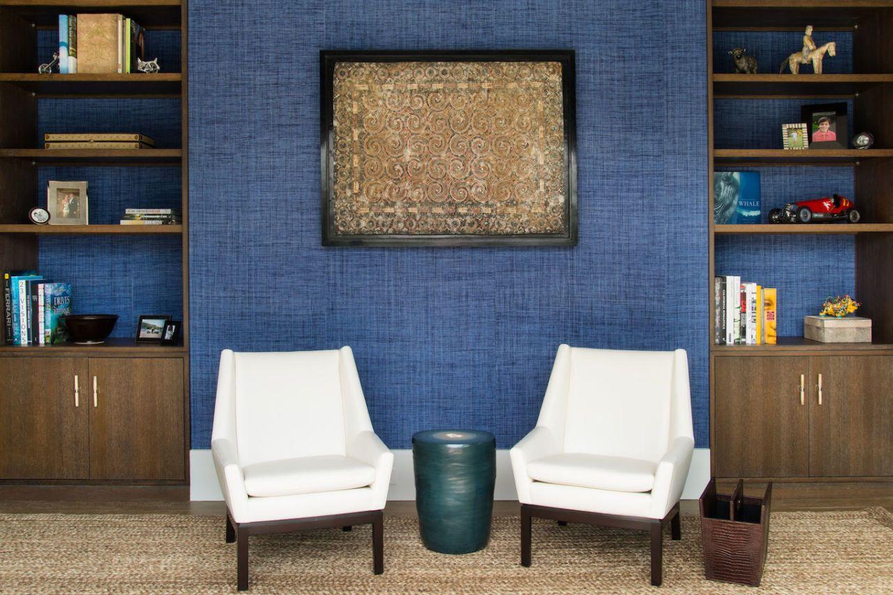 Art Exhibit Of House Interiors Painted In Ultramarine