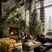 Montana christmas home living room