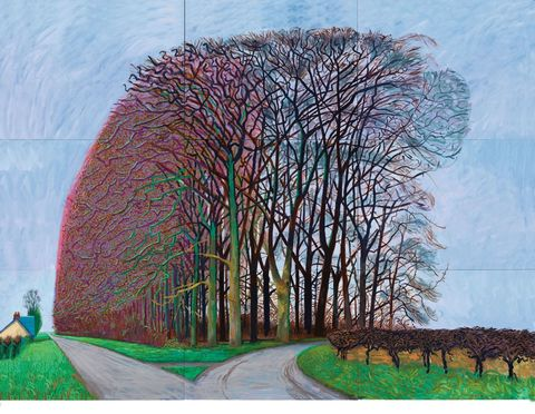 david hockney bigger trees nearer warter
