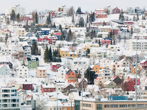 <p>Known as the capital of the Arctic, this lively city is filled with vivid wooden houses that are hundreds of years old. At night, the Aurora Borealis adds even more color to this snowy locale.</p>