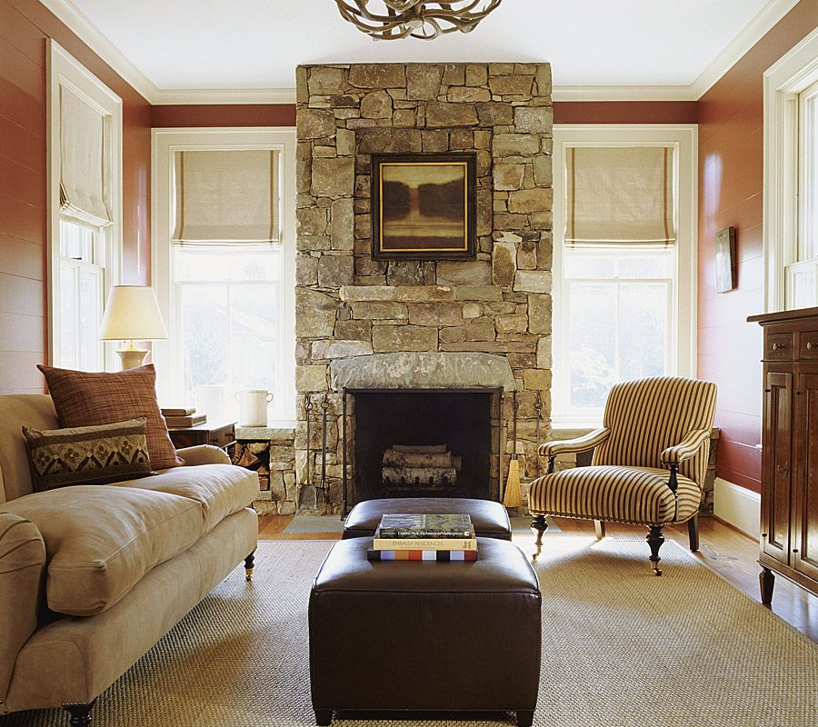 Modern Living Room Fireplace Walls Part - 16: Fireplace Ideas