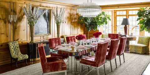 Room, Interior design, Furniture, Table, Interior design, Light fixture, Chair, Real estate, Ceiling, Ceiling fixture,